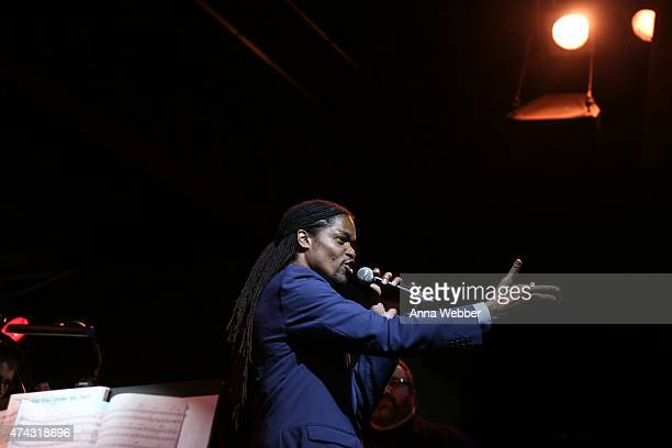 'America's Got Talent' winner Landau Eugene Murphy performs a tribute to BB King at BB King Blues Club Grill on May 21 2015 in New York City King...