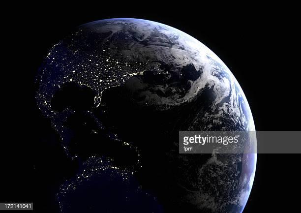 Südamerika-Lichter in der Nacht