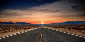 Known as America's Loneliest Road, this stretch of Nevada highway cuts through a vast expanse of desert.