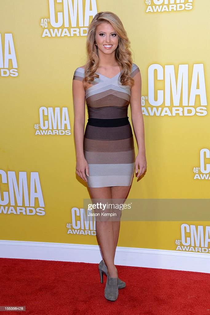 America's Miss Outstanding Teen Elizabeth Fechtela ttends the 46th annual CMA Awards at the Bridgestone Arena on November 1, 2012 in Nashville, Tennessee.