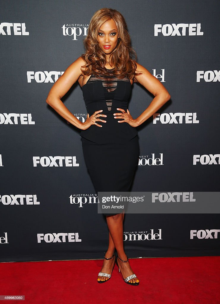 America's Next Top Model creator and host Tyra Banks poses at Carriageworks on December 5 2014 in Sydney Australia