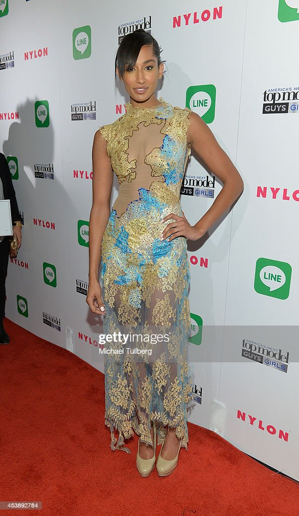 'America's Next Top Model' Cycle 19 contestant Kiara attends the premiere party for Cycle 21 of 'America's Next Top Model' presented by NYLON magazine and the LINE messaging app at SupperClub Los Angeles on August 20, 2014 in Los Angeles, California.