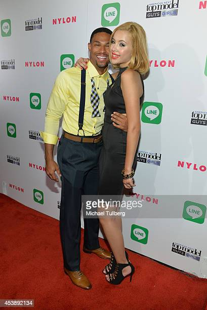 'America's Next Top Model' Cycle 21 finalists Denzel Wells and Mirjana Puhar attend the premiere party for Cycle 21 of 'America's Next Top Model'...