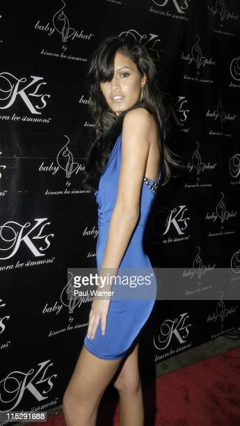 America's Next Top Model Jaslene Gonzalez poses on the red carpet at Suzy Wongs on February 1 2008 in New York City New York