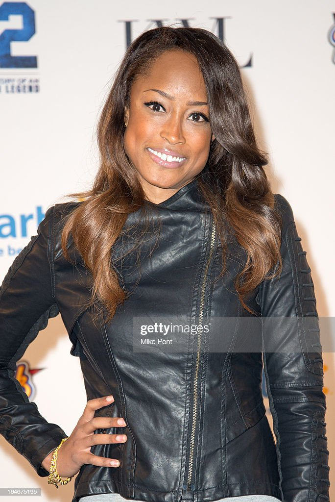 America's Next Top Model Keenyah Hill attends the '42' event honoring the legacy of Jackie Robinson at the Brooklyn Academy of Music on March 25, 2013 in New York City.