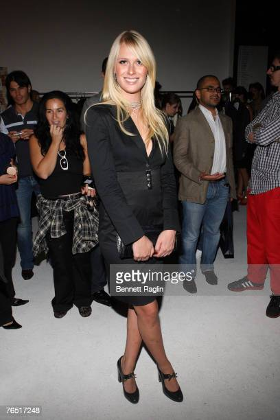 America's Next Top Model winner CariDee English poses for a picture backstage at the Carlos Campos Fashion Show Starlight Studios New York New York