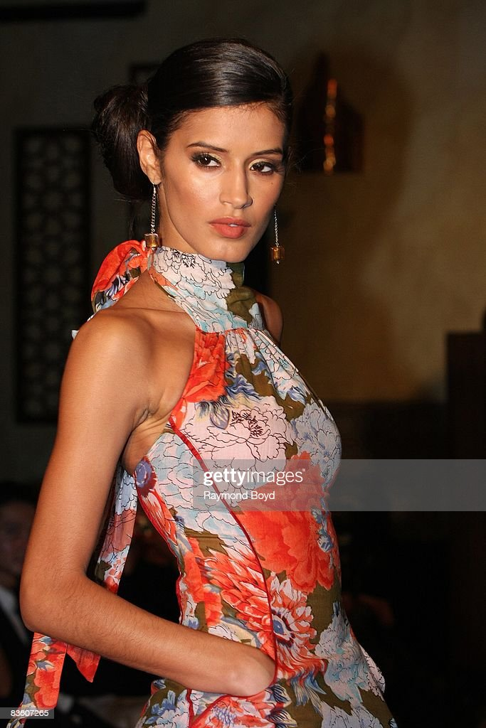 'America's Next Top Model' winner, Jaslene Gonzalez walks the runway wearing fashions by Cuco during the second annual Chicago Latino Fashion Week at Alhambra Palace in Chicago, Illinois on November 1, 2008.