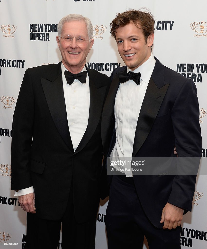 Ames Brown (R) and guest attend the 2013 New York City Opera Spring Gala at New York City Center on April 25, 2013 in New York City.