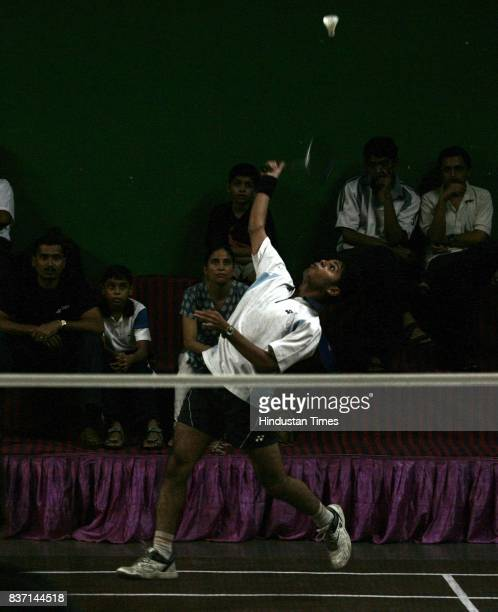 Ameya Joshi during Vanita Samaj Badminton Tournament in Dadar