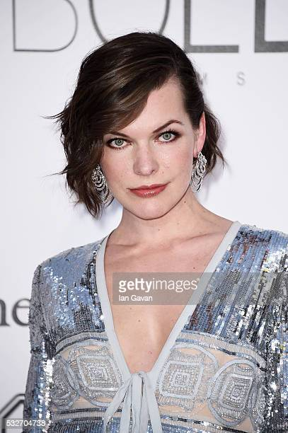 amfAR Ambassador Milla Jovovich arrives at amfAR's 23rd Cinema Against AIDS Gala at Hotel du CapEdenRoc on May 19 2016 in Cap d'Antibes France