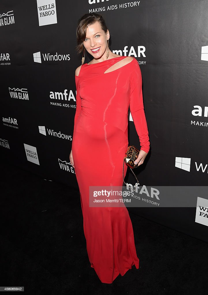 amfAR Ambassador <a gi-track='captionPersonalityLinkClicked' href=/galleries/search?phrase=Milla+Jovovich&family=editorial&specificpeople=202207 ng-click='$event.stopPropagation()'>Milla Jovovich</a> attends amfAR LA Inspiration Gala honoring Tom Ford at Milk Studios on October 29, 2014 in Hollywood, California.