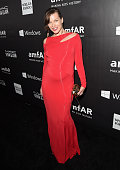 amfAR Ambassador Milla Jovovich attends amfAR LA Inspiration Gala honoring Tom Ford at Milk Studios on October 29 2014 in Hollywood California