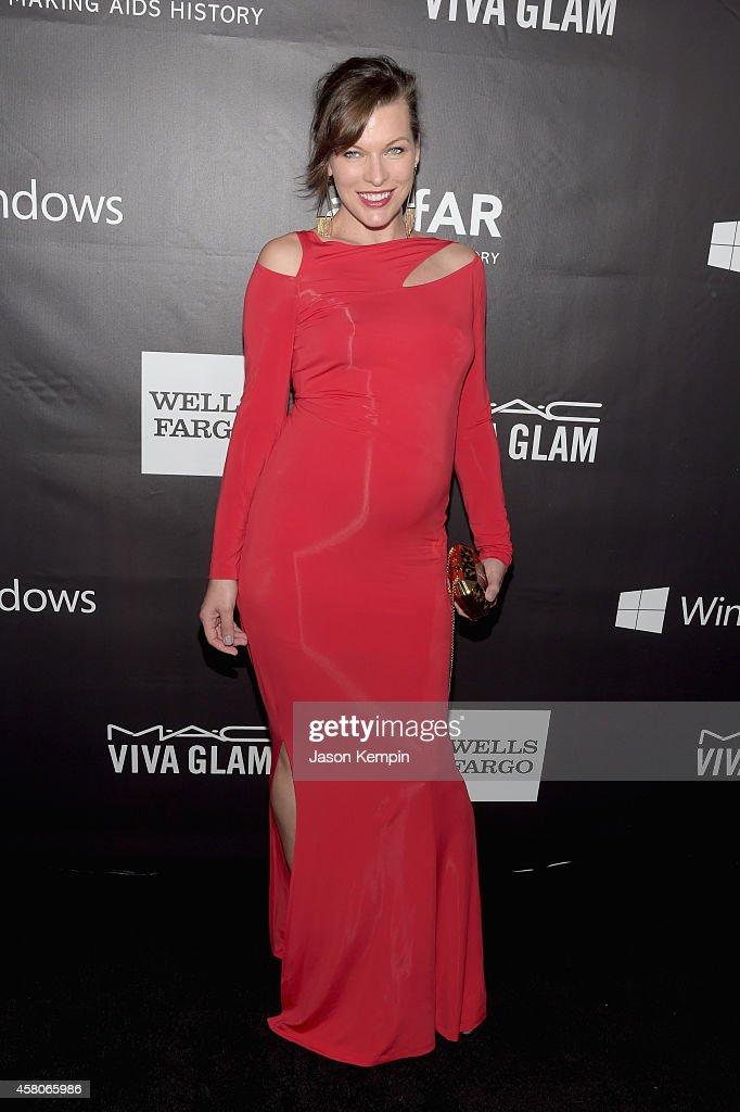 amfAR Ambassador Milla Jovovich attends the 2014 amfAR LA Inspiration Gala at Milk Studios on October 29 2014 in Hollywood California