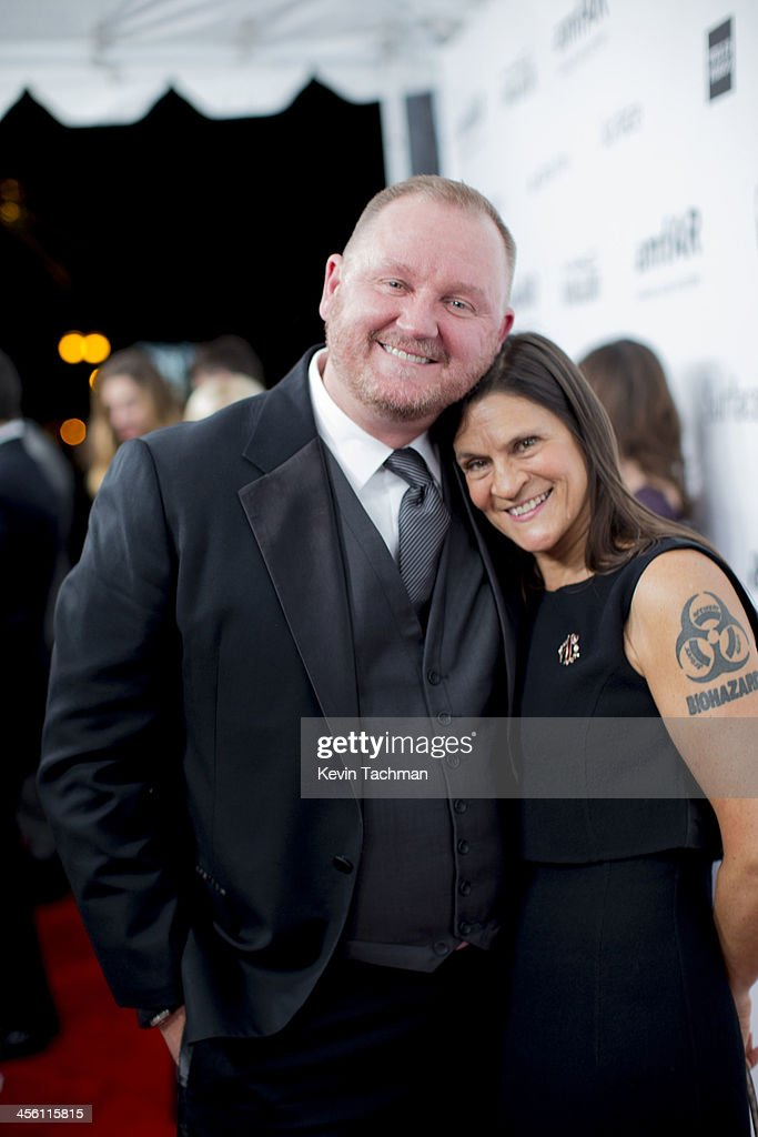amfAR CEO Kevin Robert Frost and Aileen Getty attend the 2013 amfAR Inspiration Gala Los Angeles at Milk Studios on December 12 2013 in Los Angeles...
