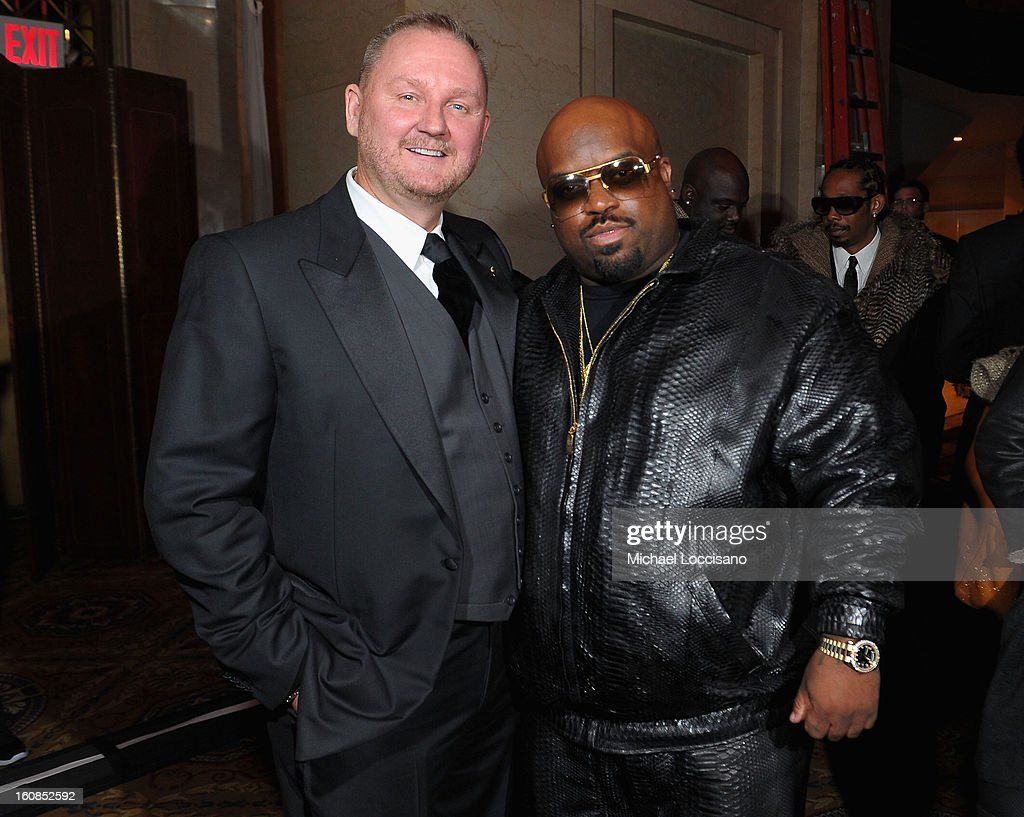 amfAR CEO Kevin Robert Frost (L) and Cee Lo Green attend the amfAR New York Gala to kick off Fall 2013 Fashion Week at Cipriani Wall Street on February 6, 2013 in New York City.