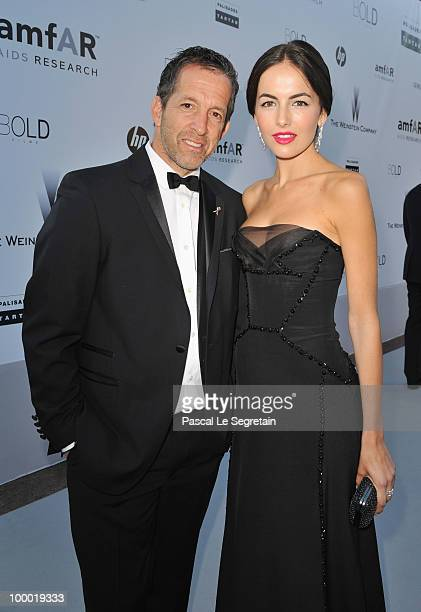 amfAR Chairman Kenneth Cole and actress Camilla Belle arrives at amfAR's Cinema Against AIDS 2010 benefit gala at the Hotel du Cap on May 20 2010 in...