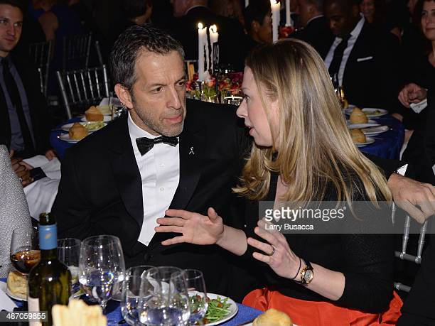 amfAR Chairman Kenneth Cole and Chelsea Clinton attend the 2014 amfAR New York Gala at Cipriani Wall Street on February 5 2014 in New York City