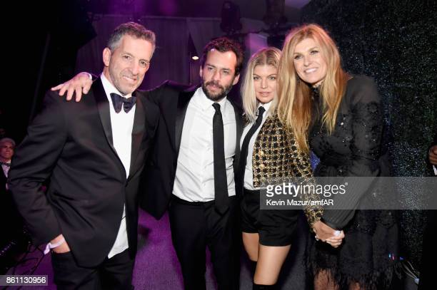 amfAR Chairman of the Board Kenneth Cole Josh Wood singer Fergie and actor Connie Britton attend the amfAR Gala Los Angeles 2017 at Ron Burkle's...