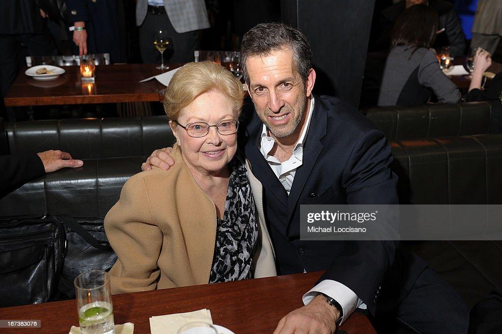 amfAR Founding Chairman Dr. Mathilde Krim and designer Kenneth Cole attend HBO's 'The Battle of amFAR' premiere at Tribeca Film Festival on April 24, 2013 in New York City.