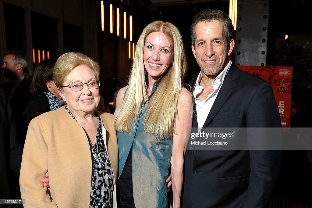 amfAR Founding Chairman Dr. Mathilde Krim, Regan Hofmann and designer Kenneth Cole attend HBO's 'The Battle of amfAR' premiere at Tribeca Film Festival on April 24, 2013 in New York City.