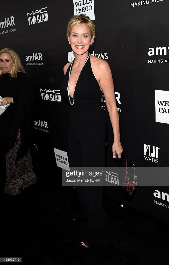 amfAR Global Fundraising Chairman <a gi-track='captionPersonalityLinkClicked' href=/galleries/search?phrase=Sharon+Stone&family=editorial&specificpeople=156409 ng-click='$event.stopPropagation()'>Sharon Stone</a> attends amfAR LA Inspiration Gala honoring Tom Ford at Milk Studios on October 29, 2014 in Hollywood, California.