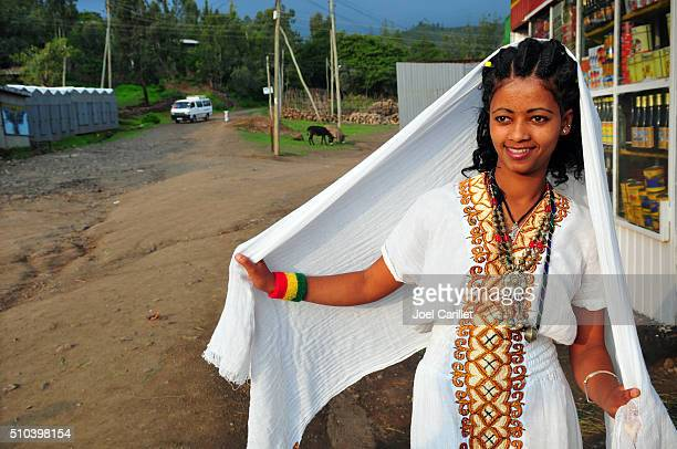 Amhara woman in Lalibela, Ethiopia