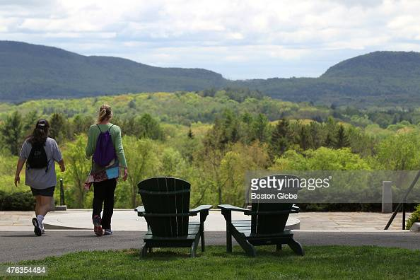 Amherst college campus has a beautiful view
