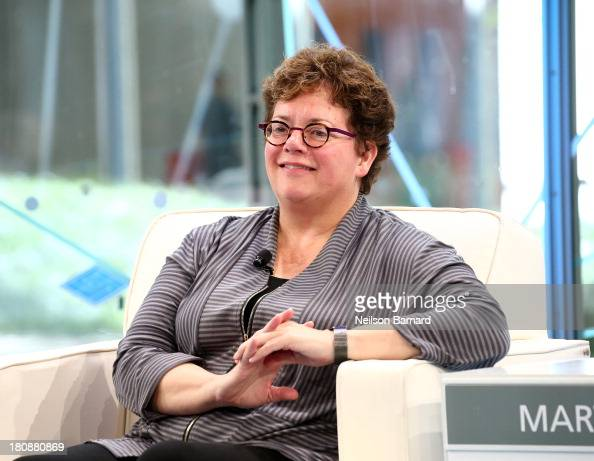 Amherst College President Biddy Martin speaks during the Has the University As An Institution Had Its Day conversation at the New York Times Schools...