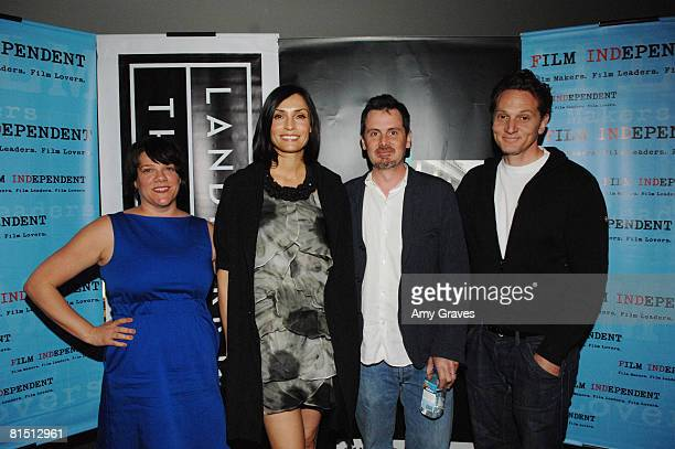 Ami Armstrong Famke Janssen and Chris Eigeman and Matt Ross attend thhe 2008 Film Independent's Preview Screening of Turn The River on May 6 2008 at...