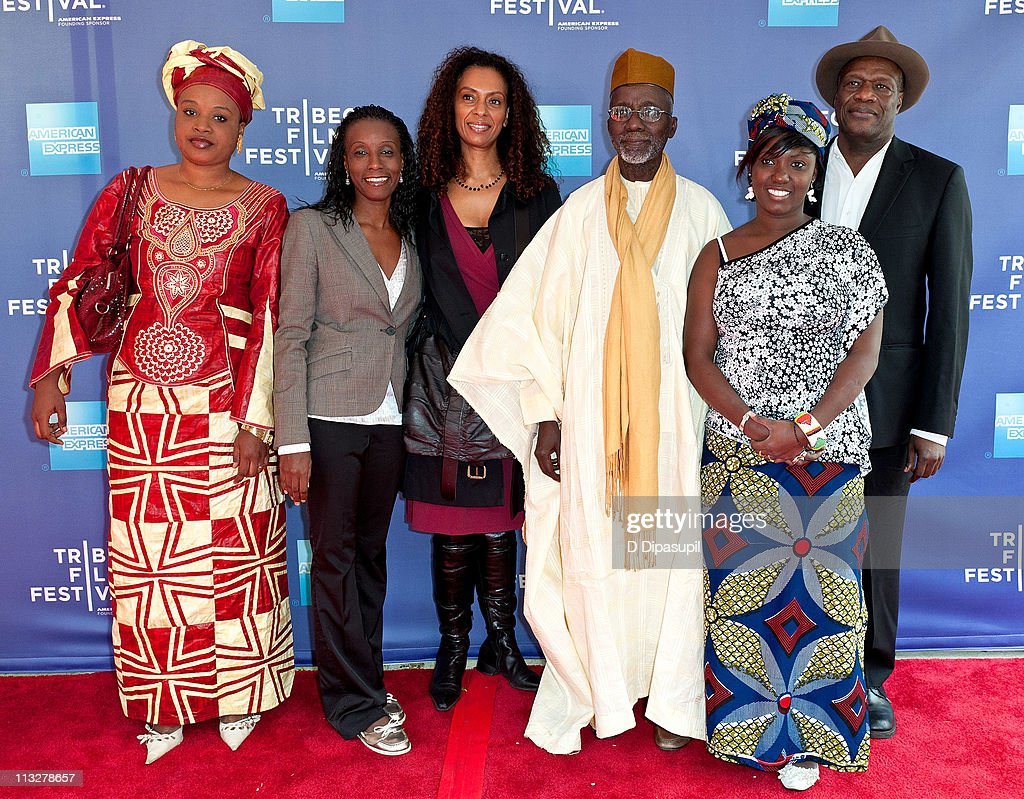 Ami Cisse, Fatou Cisse, Lydie Diakhate, Souleymane Cisse, Soussaba Cisse, and Manchia Diawara attend Tribeca Talks: Souleymane Cisse with Martin Scorsese during the 10th annual Tribeca Film Festival at SVA Theater on April 29, 2011 in New York City.