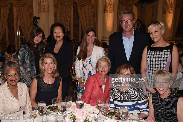 Ami Kaplan Tina Brown Joe Scarborough Mika Brzezinski Cathie Black and guests attend the 5th Annual Elly Awards hosted by the Women's Forum of New...