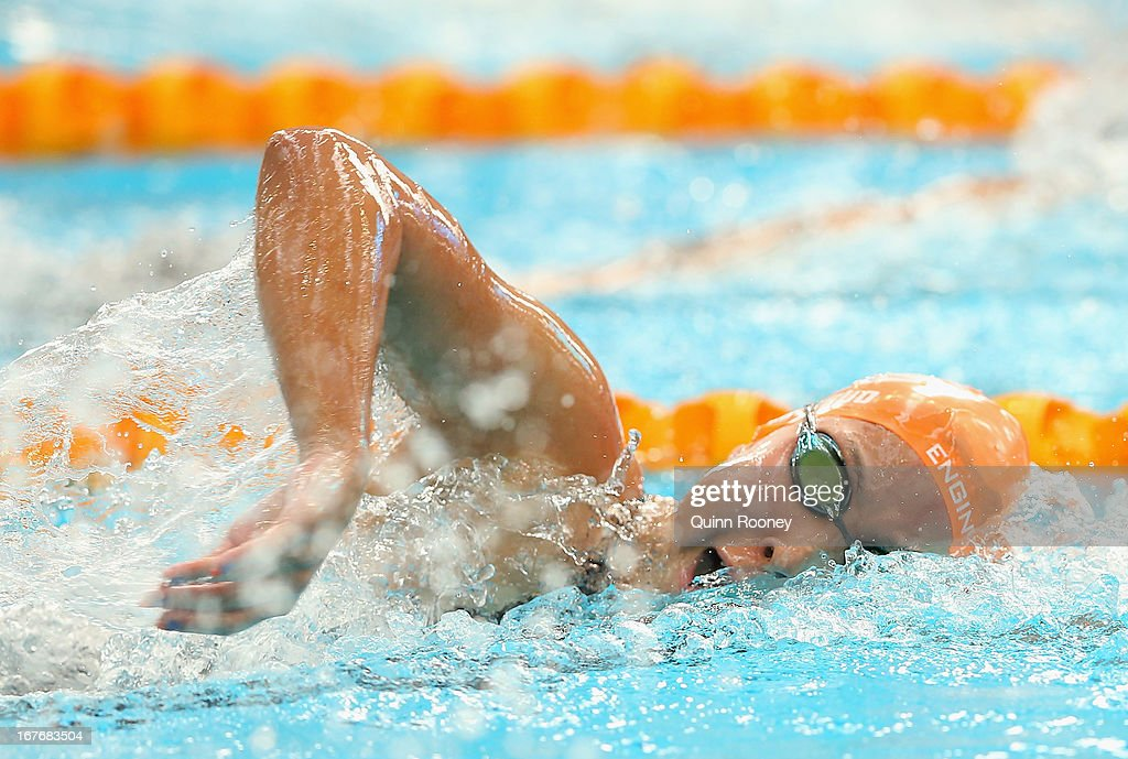 Ami Matsuo of Australia competes in the Women's 200 Metre Freestyle during day three of the Australian Swimming Championships at SA Aquatic and Leisure Centre on April 28, 2013 in Adelaide, Australia.