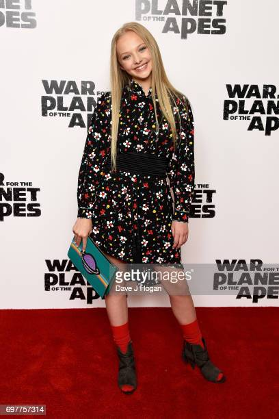 Amiah Miller attends a screening of 'War For The Planet Of The Apes' at The Ham Yard Hotel on June 19 2017 in London England