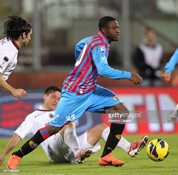 Amidu Salifu of Catania during the Serie A match between Catania Calcio and AS Cittadella at Stadio Angelo Massimino on December 4 2012 in Catania...