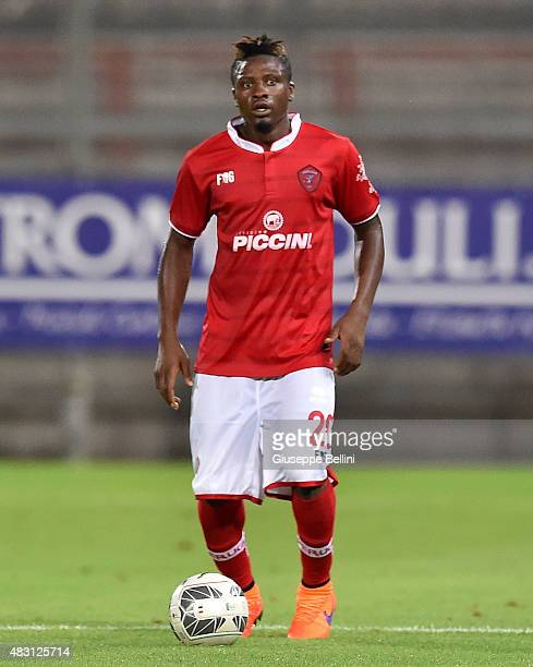 Amidu Salifu of Perugia in action during the preseason friendly match between AC Perugia and Carpi FC at Stadio Renato Curi on August 1 2015 in...