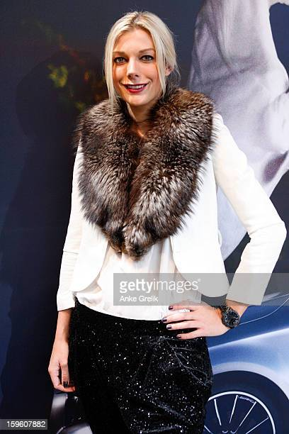 Amika Gassner attends MercedesBenz Fashion Week Autumn/Winter 2013/14 at the Brandenburg Gate on January 17 2013 in Berlin Germany