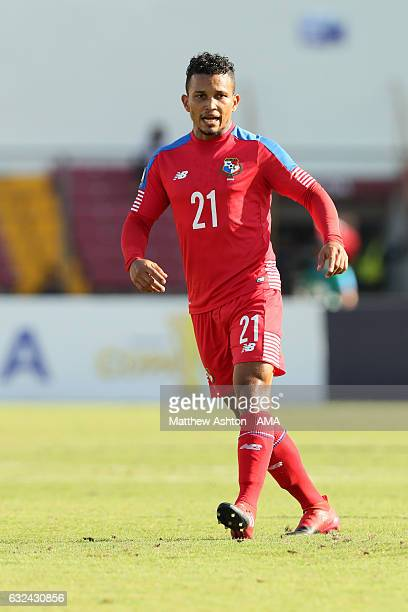 Amilcar Henriquez of Panama during the Copa Centroamericana 2017 tournament between Panama and Costa Rica at Estadio Rommel Fernandez on January 22...