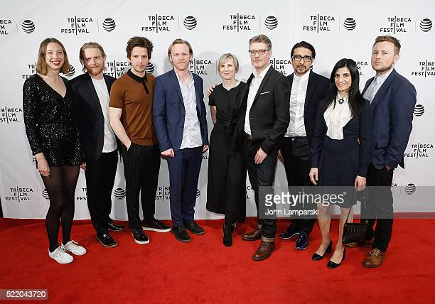 Amilia Evans Gareth Coulaman Evans Damien Molony Brian Gleesons Rachel Bradley Simon Dixon and Leeor Levy attend 'Tiger Raid' Premiere during 2016...