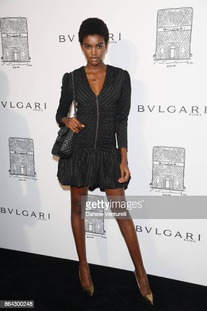 Amilna Estevao attends a party to celebrate the Bvlgari Flagship Store Reopening on October 20 2017 in New York City