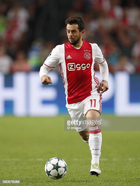 Amin Younes of Ajax during the Champions League playoff match between Ajax and FK Rostov at the Amsterdam Arena on august 16 2016 in Amsterdam the...
