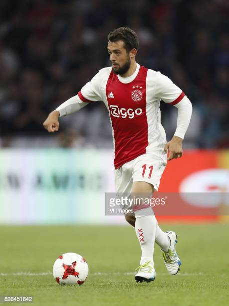 Amin Younes of Ajax during the UEFA Champions League third round qualifying first leg match between Ajax Amsterdam and OGC Nice at the Amsterdam...
