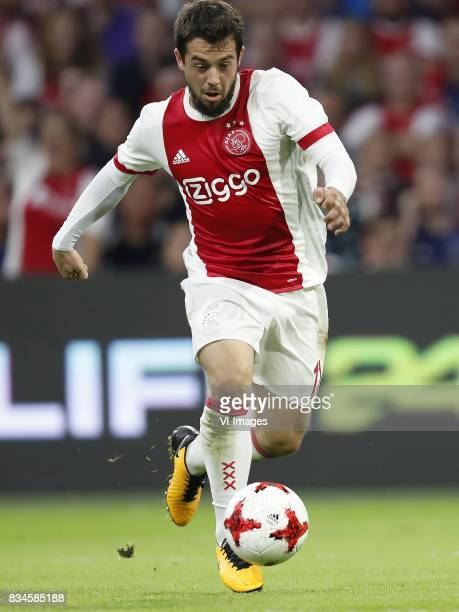 Amin Younes of Ajax during the UEFA Europa League fourth round qualifying first leg match between Ajax Amsterdam and RosenBorg BK at the Amsterdam...