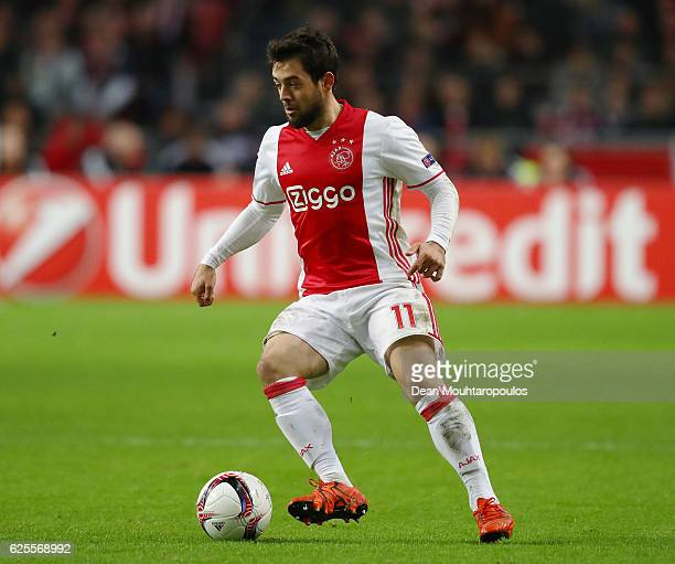 Amin Younes of Ajax in action during the UEFA Europa League Group G match between AFC Ajax and Panathinaikos FC at Amsterdam Arena on November 24...