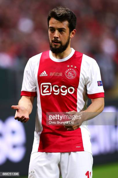 Amin Younes of Ajax looks on during the UEFA Europa League Final match between Ajax and Manchester United at Friends Arena on May 24 2017 in...