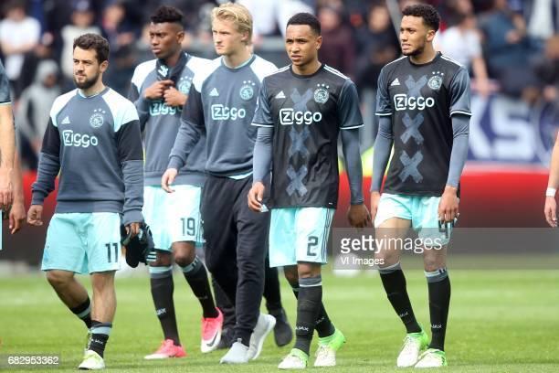 Amin Younes of Ajax Mateo Cassierra of Ajax Kasper Dolberg of Ajax Kenny Tete of Ajax Jairo Riedewald of Ajaxduring the Dutch Eredivisie match...