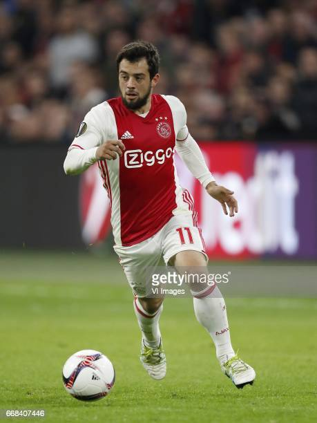 Amin Younes of Ajaxduring the UEFA Europa League quarter final match between Ajax Amsterdam and FC Schalke 04 at the Amsterdam Arena on April 13 2017...