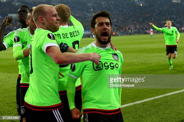 FC Schalke 04 v Ajax Amsterdam - UEFA Europa League Quarter Final: Second Leg : News Photo
