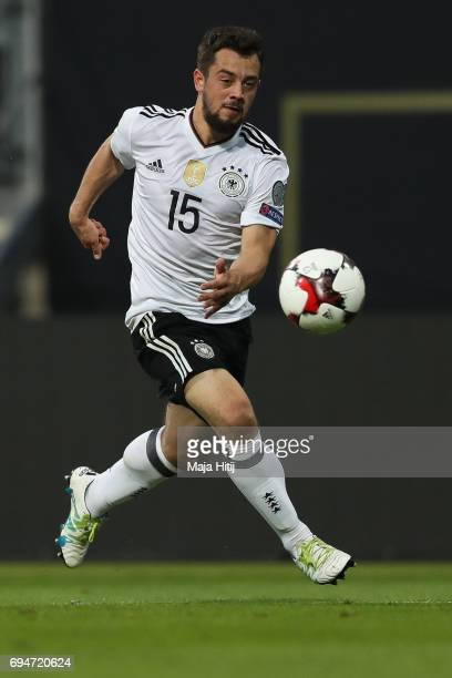 Amin Younes of Germany controls the ball during the FIFA 2018 World Cup Qualifier between Germany and San Marino on June 10 2017 in Nuremberg Bavaria
