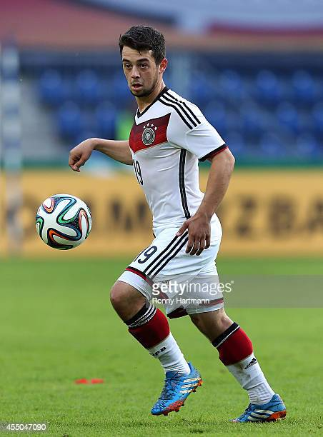 Amin Younes of Germany controls the ball during the Under 21 Qualifier between Germany U21 and U21 Romania at MDCCArena on September 09 2014 in...