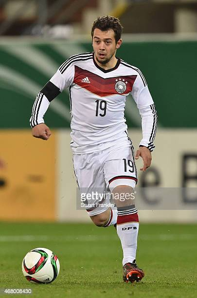 Amin Younes of Germany in action during a U21 International friendly match between U21 Germany and U21 Italy on March 27 2015 in Paderborn Germany